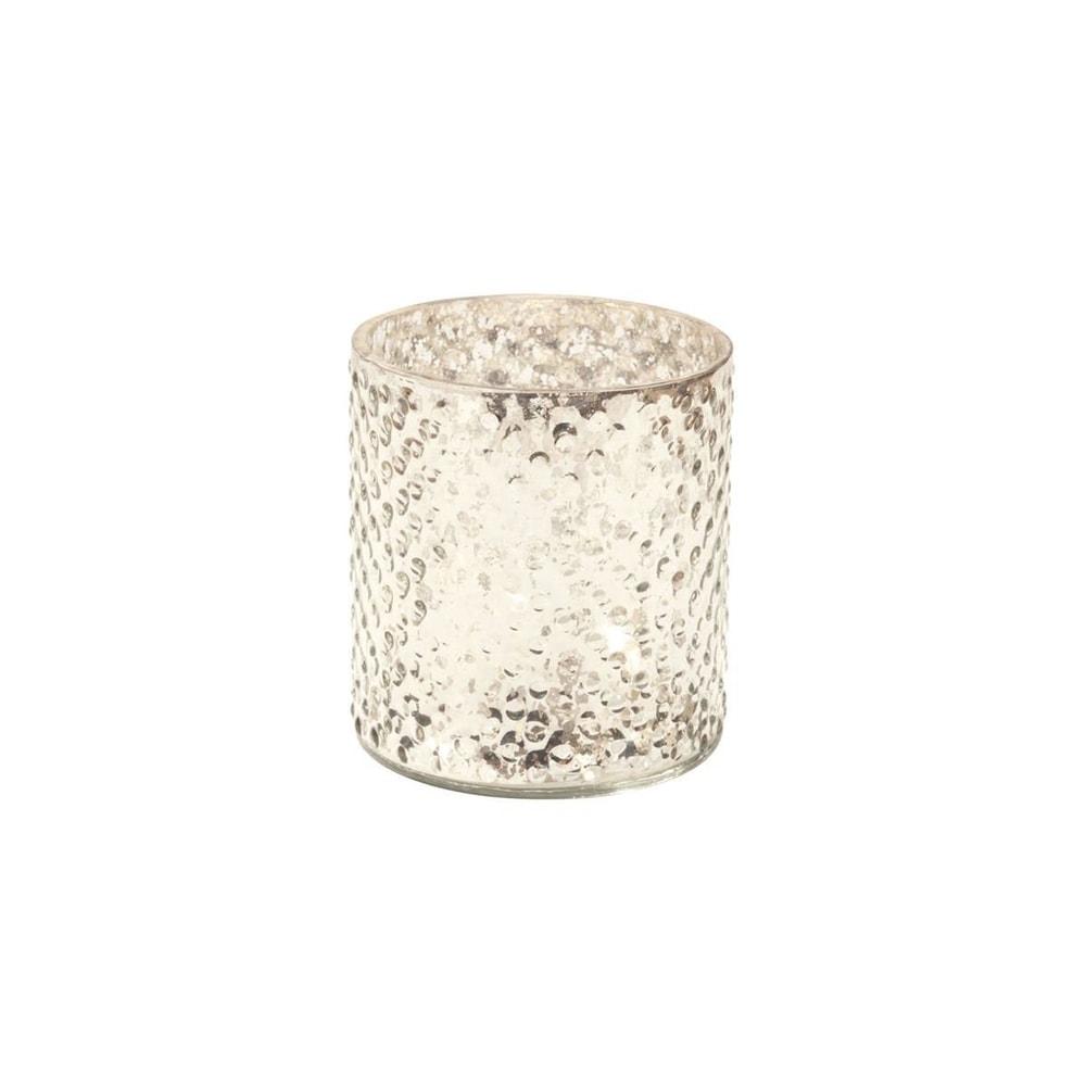 Fotografie DELIGHT Svícen na čajovou svíčku 8 cm - stříbrná