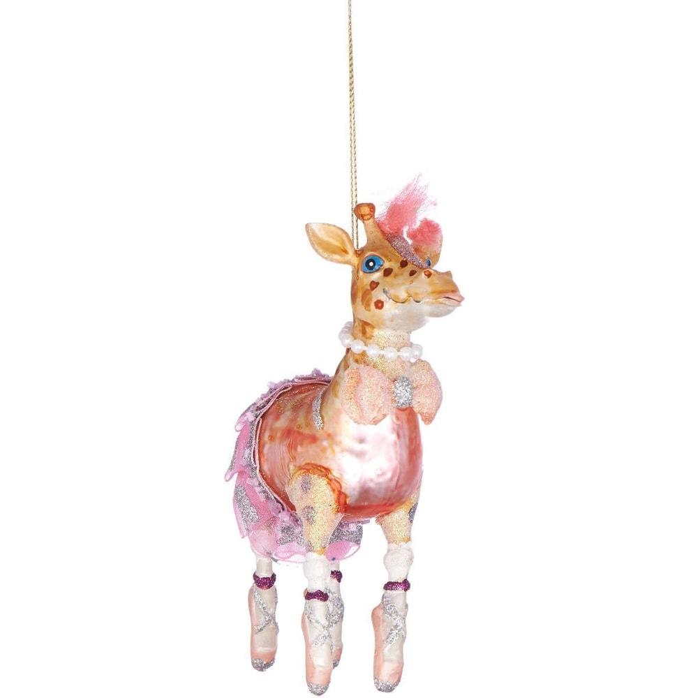 HANG ON Ozdoba žirafa baletka