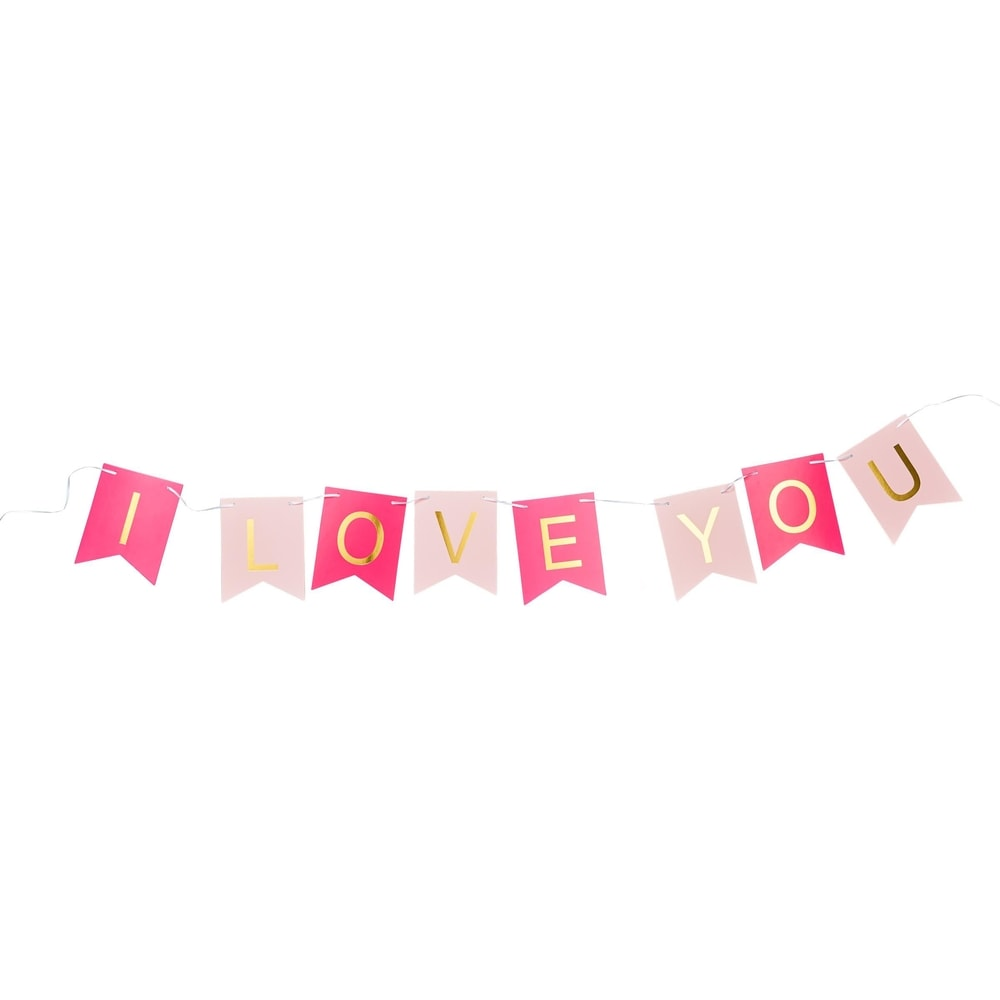 Produktové foto BANNER DAY Girlanda I LOVE YOU
