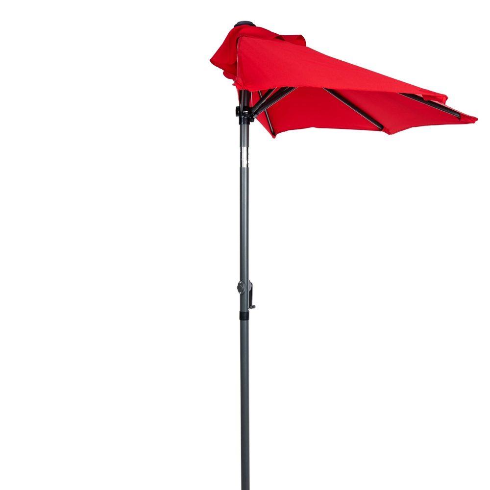 SIESTASlunečník půlkruh s klikou - červená