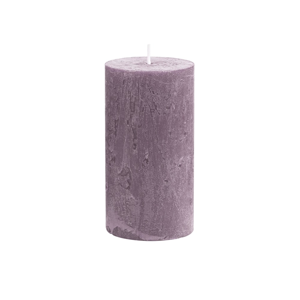 RUSTIC Svíčka 13 cm - pastelově fialová