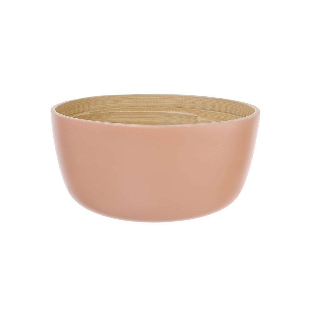 BAMBOO Bambusová miska 20 cm - pastelově červená