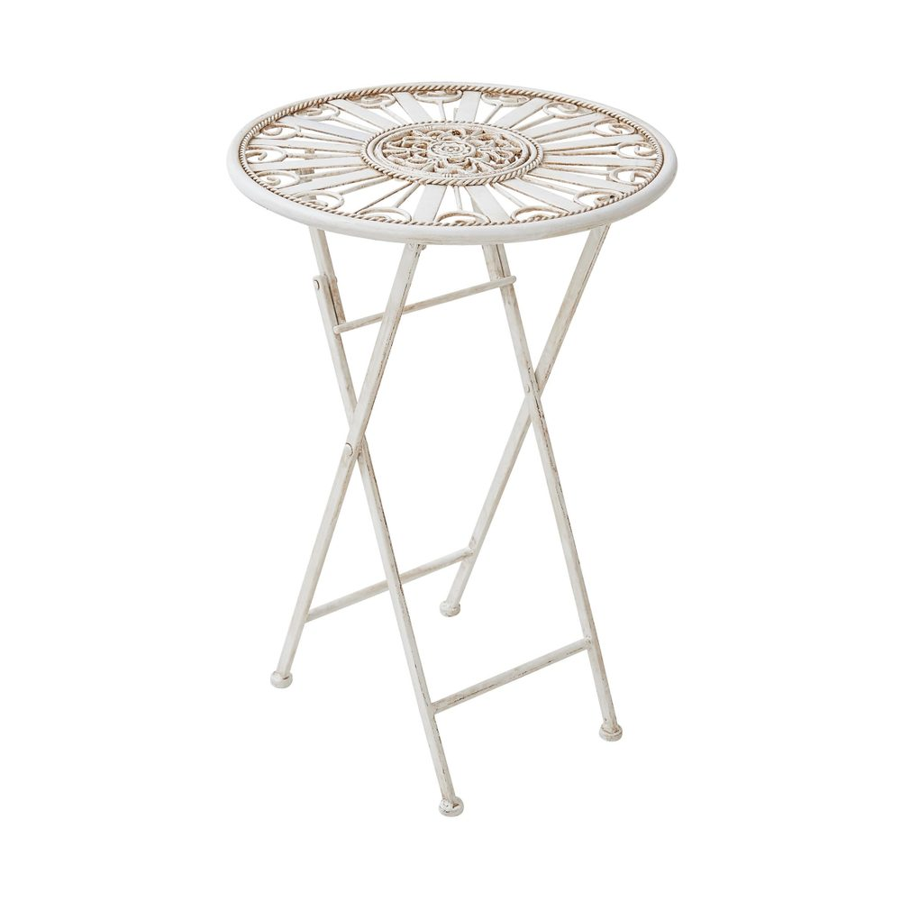 Fotografie TERRACE HILL Zahradní stolek - krémová