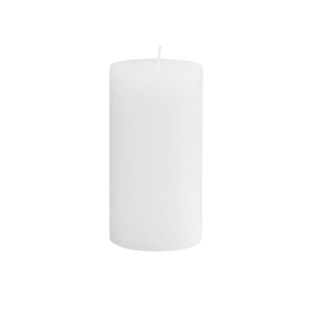 RUSTIC Svíčka 13 cm - bílá