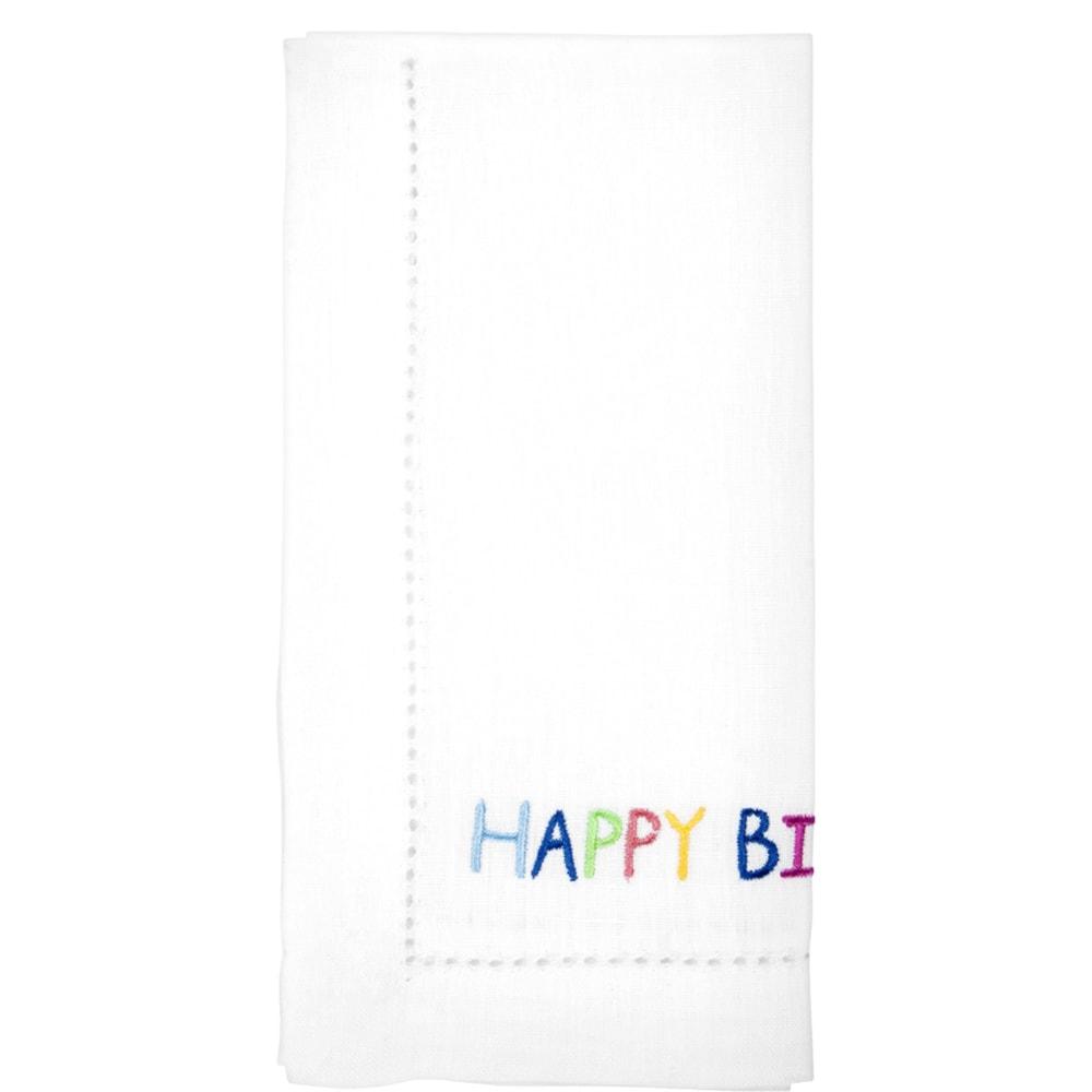 HAPPY BIRTHDAY Ubrousek látkový 45x45cm