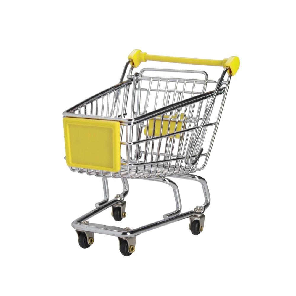 SUPERMARKET Nákupní vozík malý - žlutá