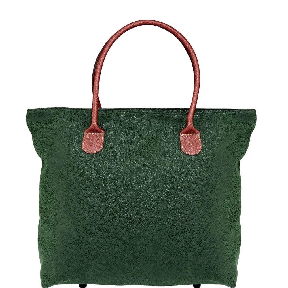 PACK & RIDE Nákupní taška se zipem - zelená