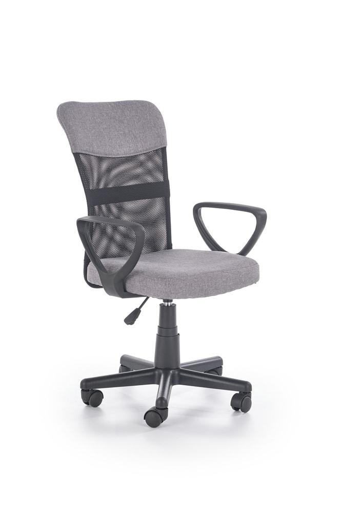 Halmar Dětská síťovaná židle Timmy, šedá/černá