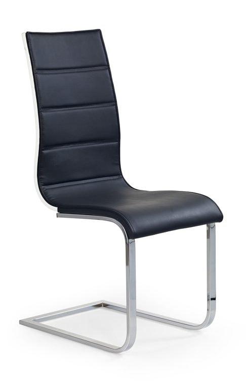Halmar Jídelní židle K104, černá/bílá, eko kůže