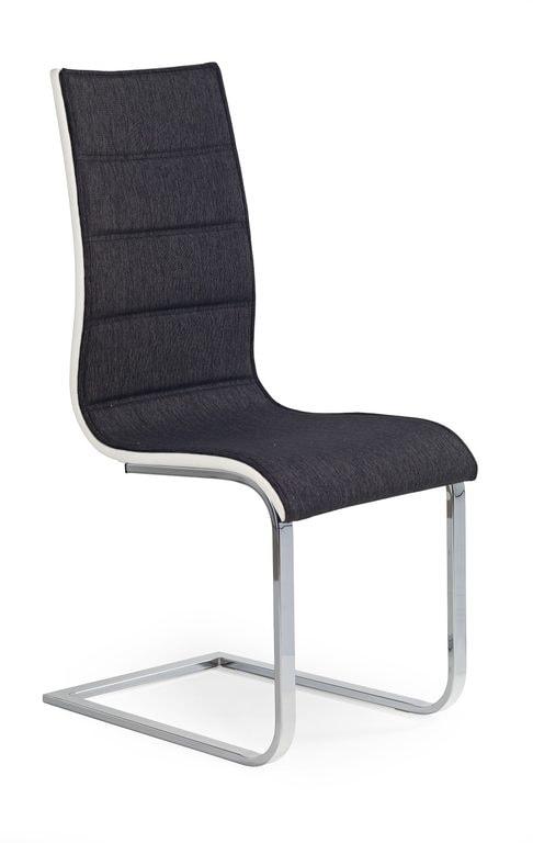 Levně Halmar Jídelní židle K105, grafit/bílá