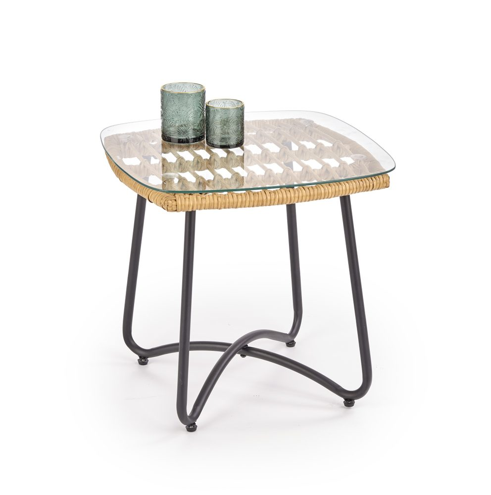 Halmar Ratanový stolek Indira