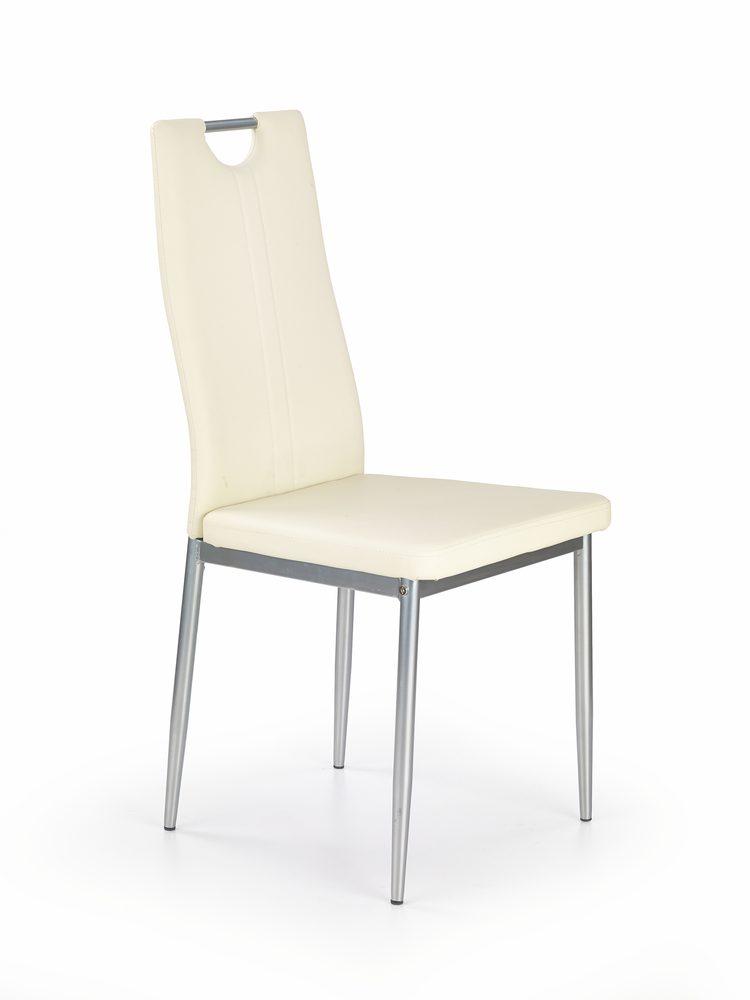 Levně Halmar Jídelní židle K202, krémová