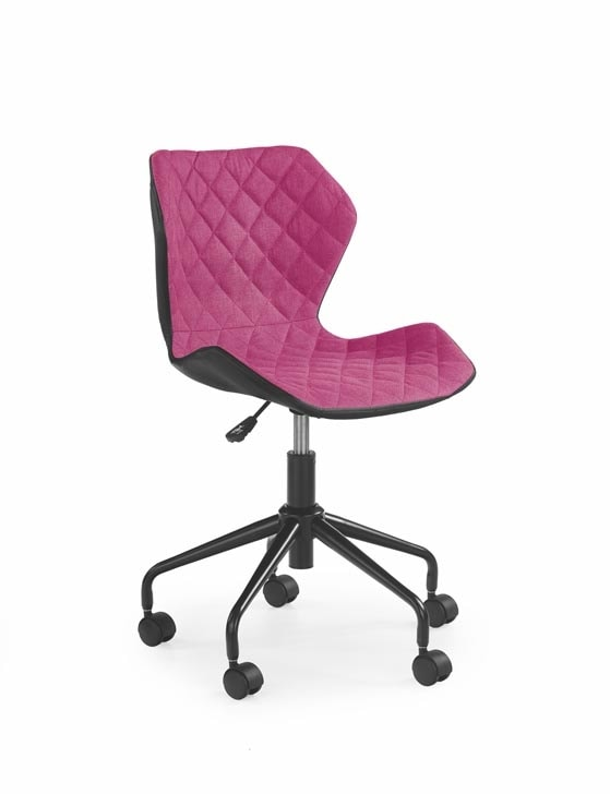 Halmar Dětská židle MATRIX, černá/růžová