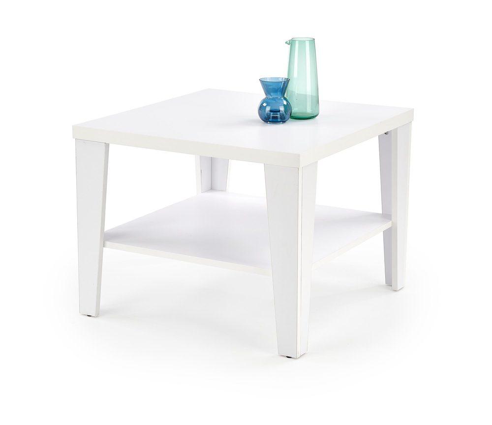 Levně Halmar Konferenční stolek MANTA, čtvercový, bílý
