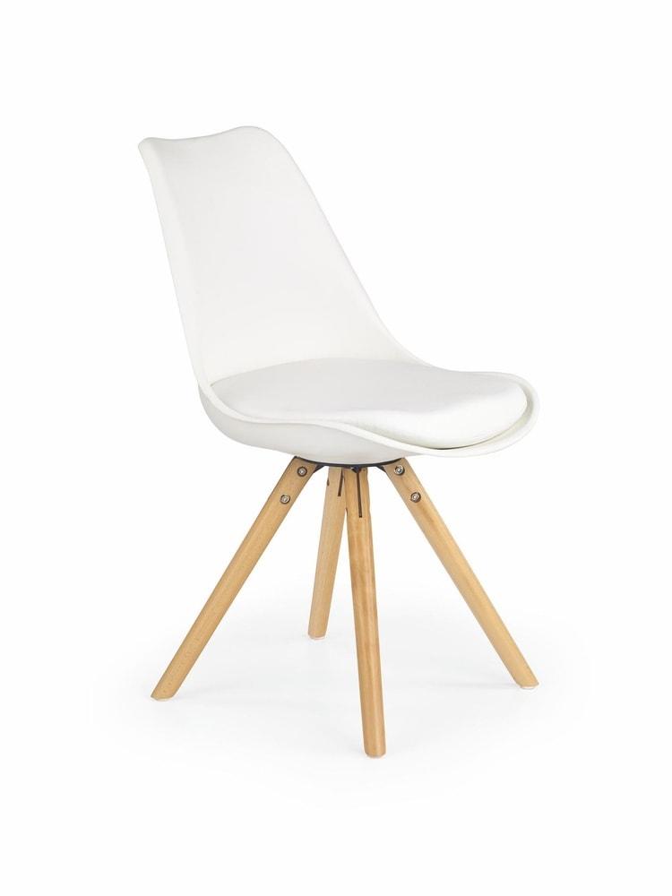 Levně Halmar Jídelní židle K201, bílá