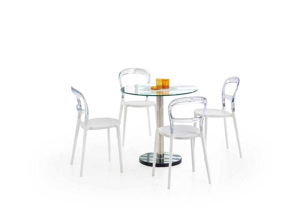 Halmar Jídelní stůl CYRYL, skleněný