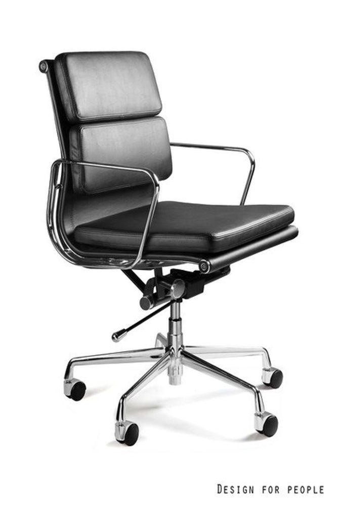 UNIQUE Kancelářská židle WYE LOW PU, černá