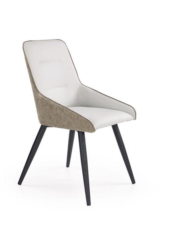 Levně Halmar Jídelní židle K243, bílo-šedá