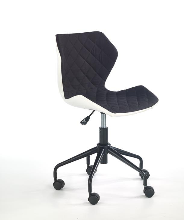 Halmar Dětská židle MATRIX, bílá/černá