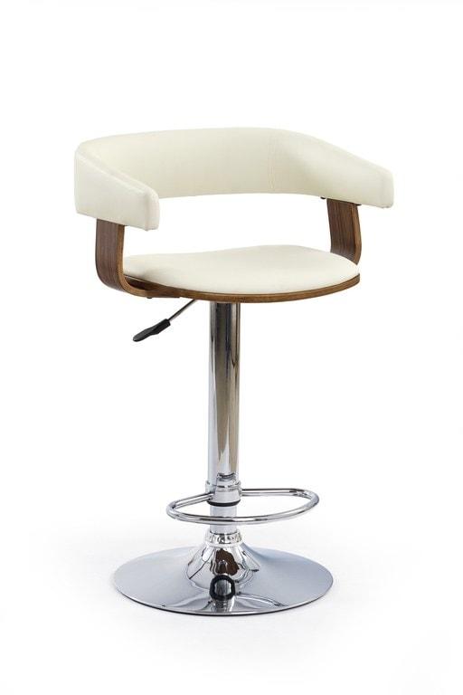 Halmar Barová židle H-12, ořech/krémová
