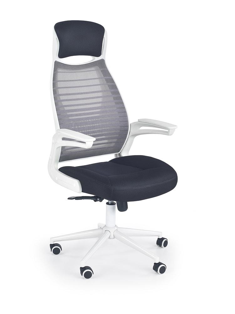 Levně Halmar Kancelářská židle FRANKLIN, černá/šedá/bílá