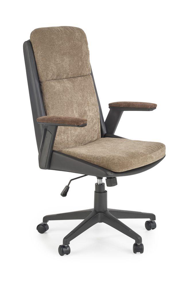 Halmar Kancelářská židle Herbic hnědá/černá