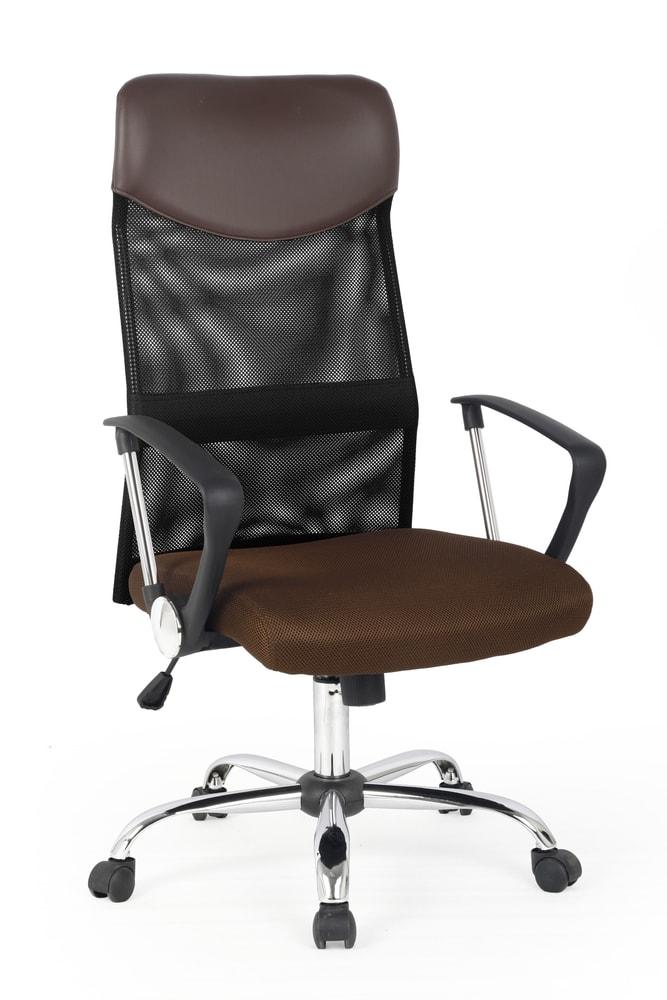 Levně Halmar Kancelářská židle VIRE, hnědá/černá