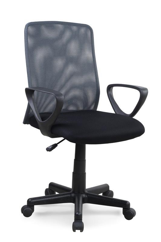 Halmar Kancelářská židle ALEX, černá/šedá