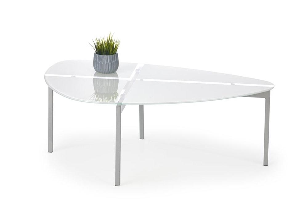 Halmar Konferenční stolek ERIKA, bílá/sklo