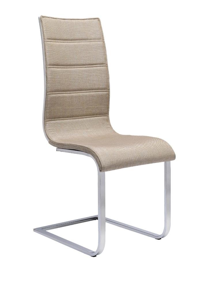 Halmar Jídelní židle K104, béžová/bílá, látka