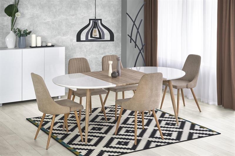 Halmar Jídelní stůl EDWARD, bílý/dub san remo