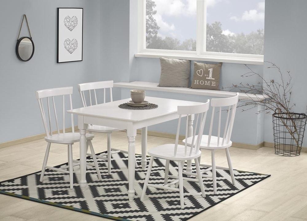 Levně Halmar Jídelní stůl LANFORD - rozkládací, bílý