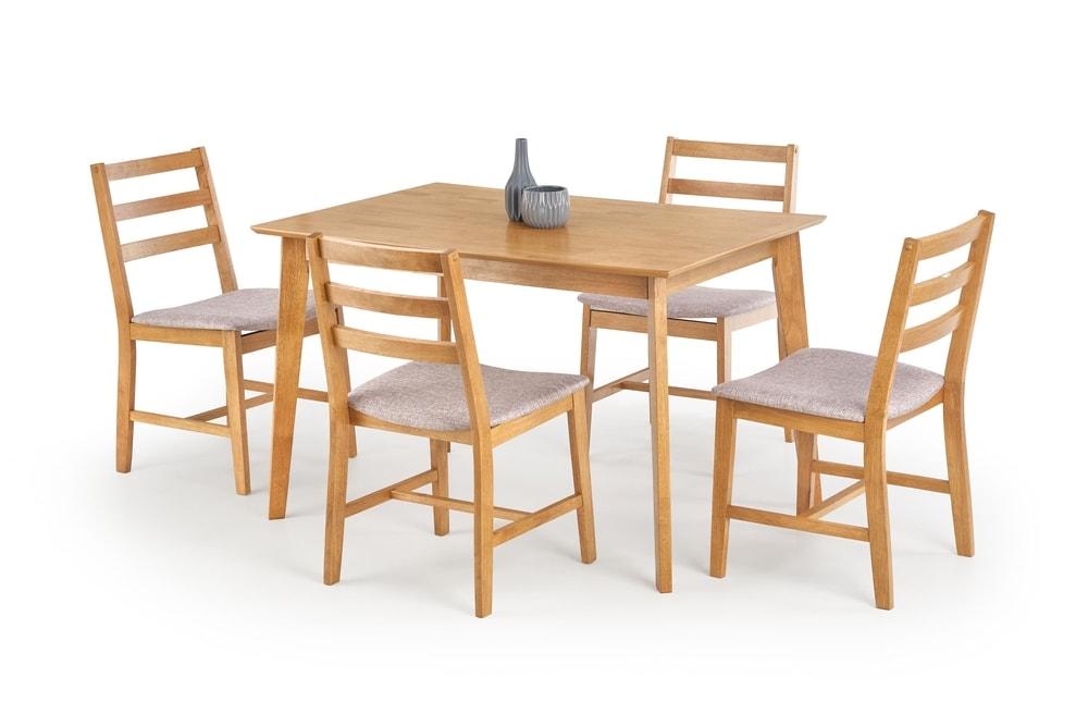 Halmar Jídelní sestava Cordoba, stůl + 4 židle, světlý dub