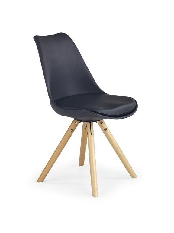 Levně Halmar Jídelní židle K201, černá