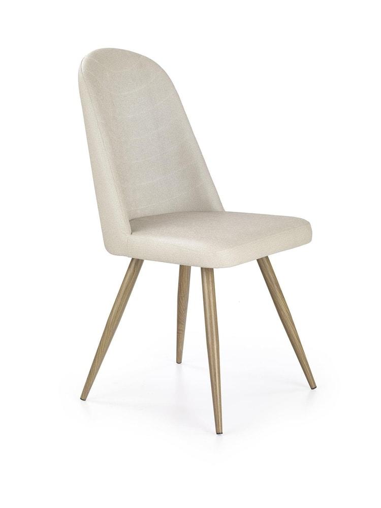 Levně Halmar Jídelní židle K214, krémová/medový dub