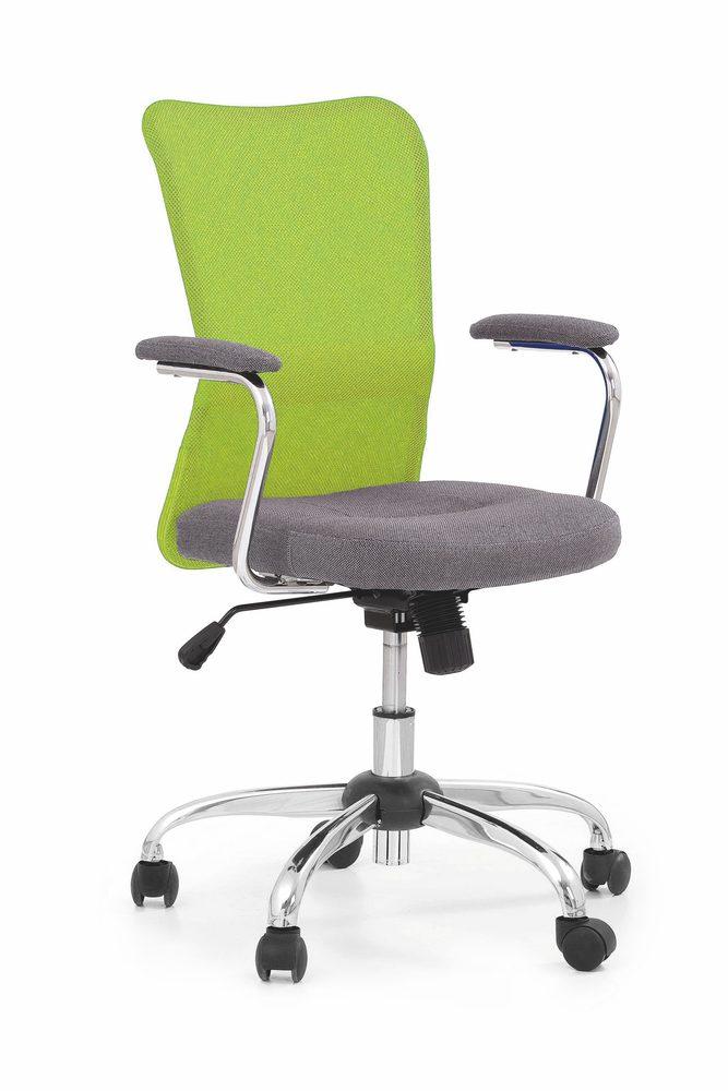 Levně Halmar Dětská síťovaná židle Andy, šedá/limetka