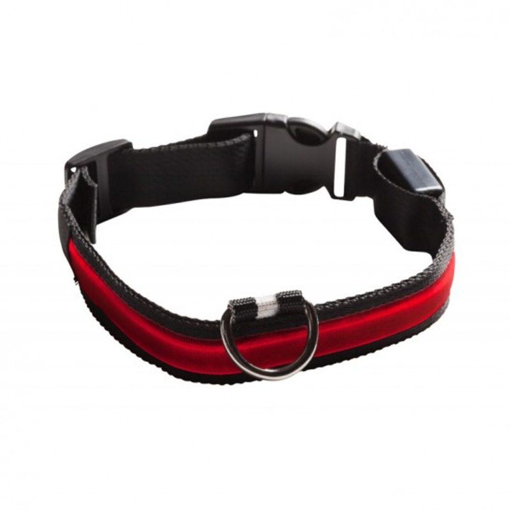 Svítící obojek Eyenimal - bateriový - červená XL
