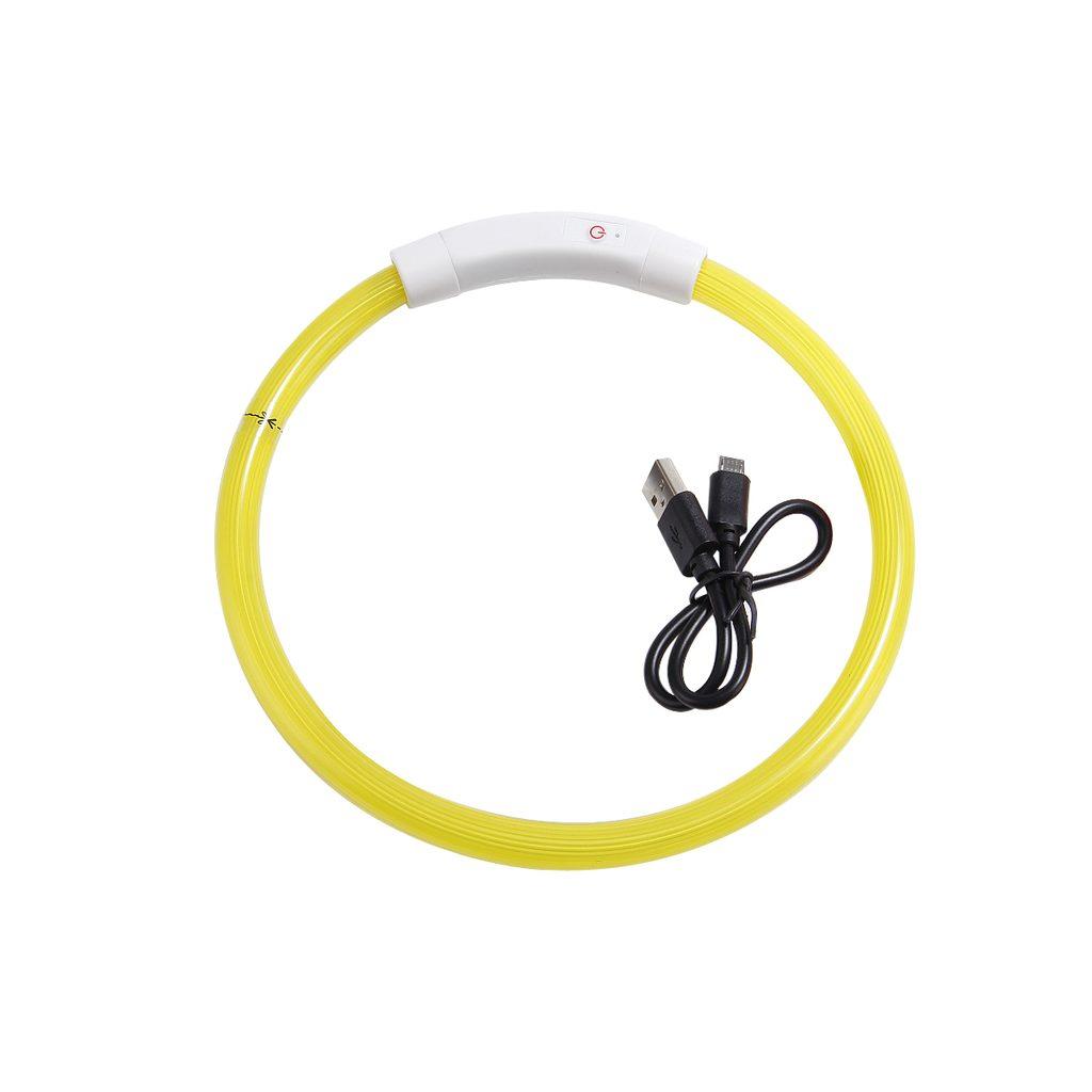 Reedog Full Light USB dobíjecí svítící obojek pro psy a kočky - růžová  M