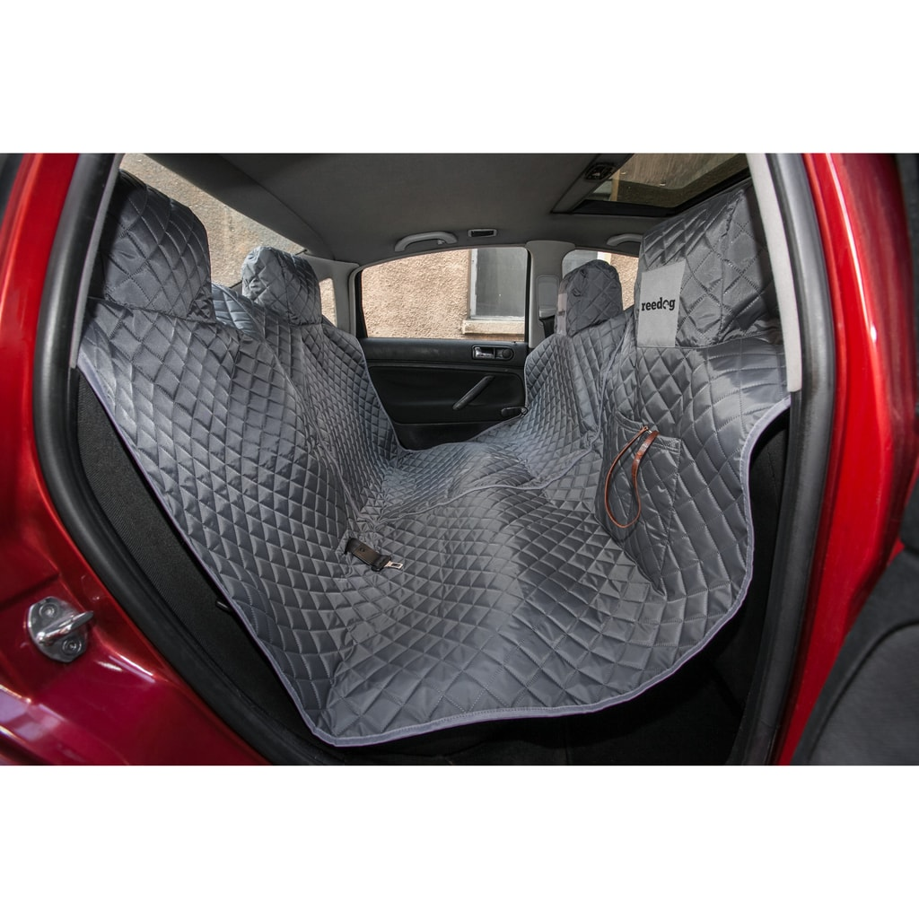 Reedog ochranný potah do auta pro psy na zip - šedý - M