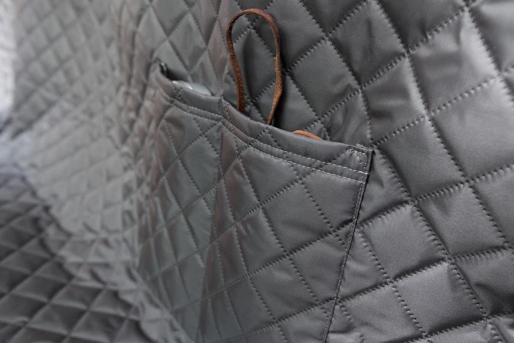 Reedog ochranný potah do auta pro psy na zip + boky - šedý - L