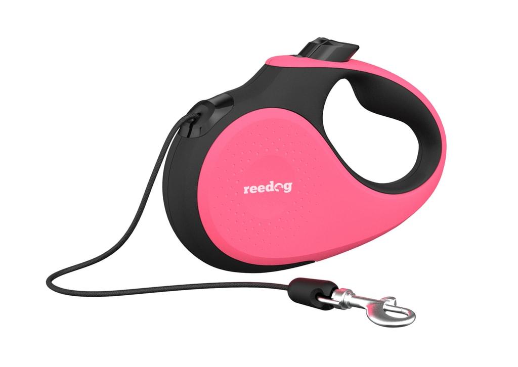 Reedog Senza Premium samonavíjecí vodítko M 20kg / 5m lanko / růžové