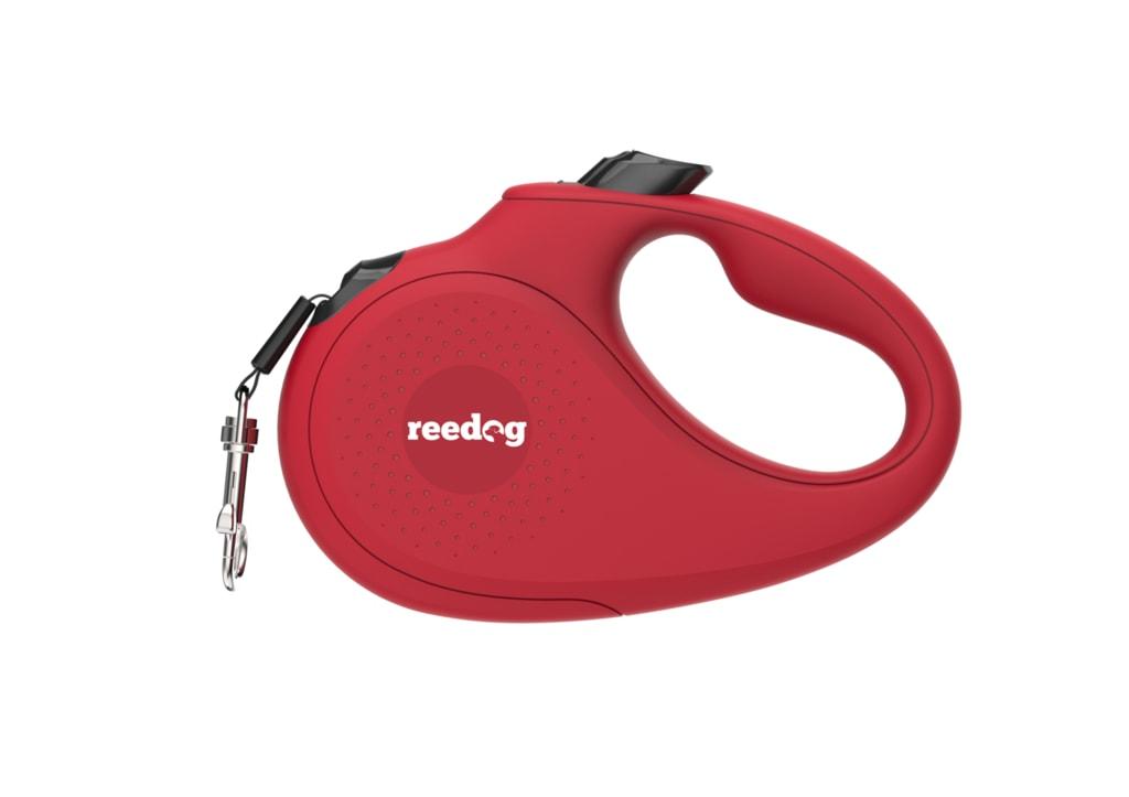 Reedog Senza Basic samonavíjecí vodítko L  50kg / 5m páska / červené