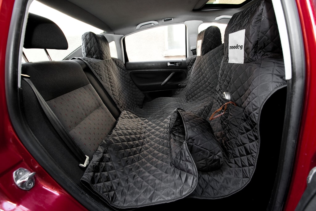 Reedog ochranný potah do auta pro psy na zip - černý - XL