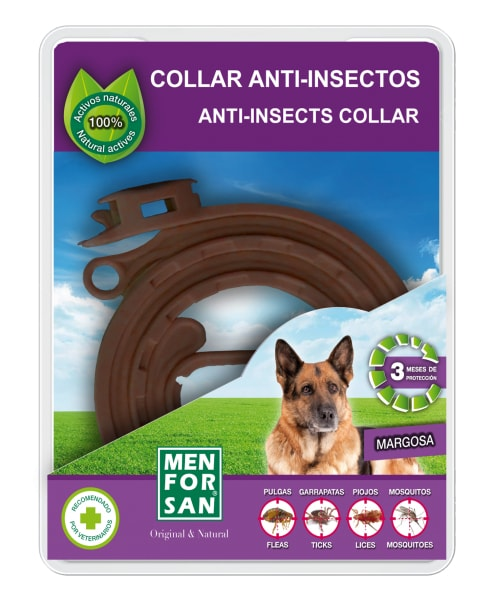 Menforsan přírodní obojek pro psy, odpuzující klíšťata a blechy 60cm