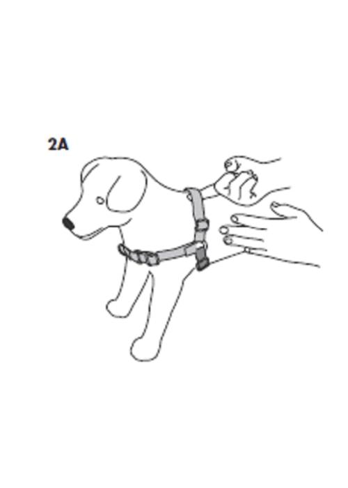 Postroj pro psy proti tahání EasyWalk - malinové / XS