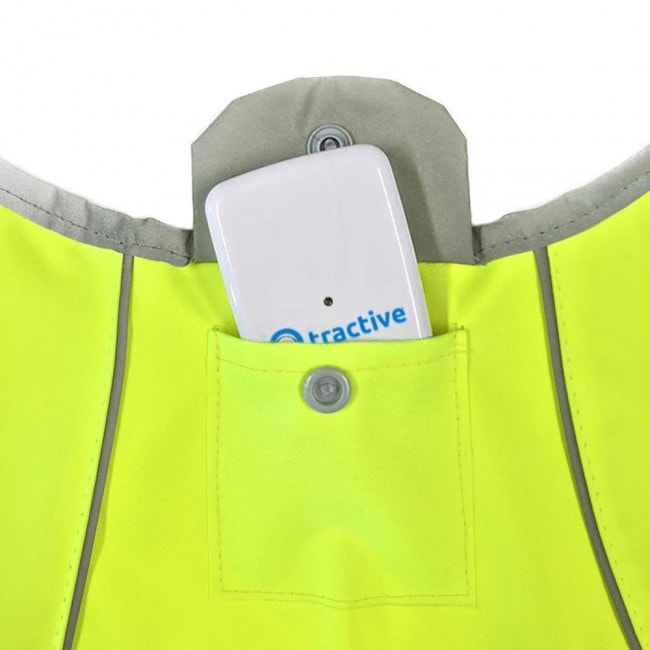 Tractive neonová reflexní vesta s kapsou pro GPS - S