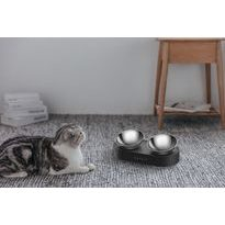 Petkit Fresh Nano Metal double bowl with adjustable fixation