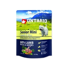 Expriováno ONTARIO Senior Mini Lamb & Rice 0,75kg 24.5.2019