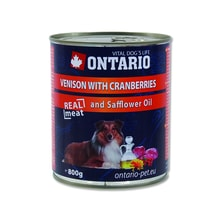 Dose ONTARIO Dog Venison, Cranberries and Safflower Oil 800g