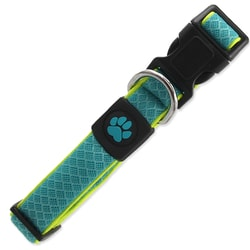 Obroża ACTIV DOG Fluffy Reflective turkusowa M
